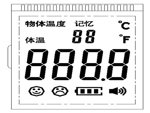 红外测温仪专用屏